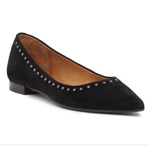 Frye Sienna studded leather pointed ballet flats